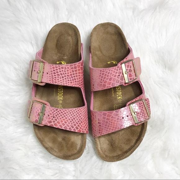622079caa9ea Birkenstock Shoes - Pink Snake Arizona Birkenstocks